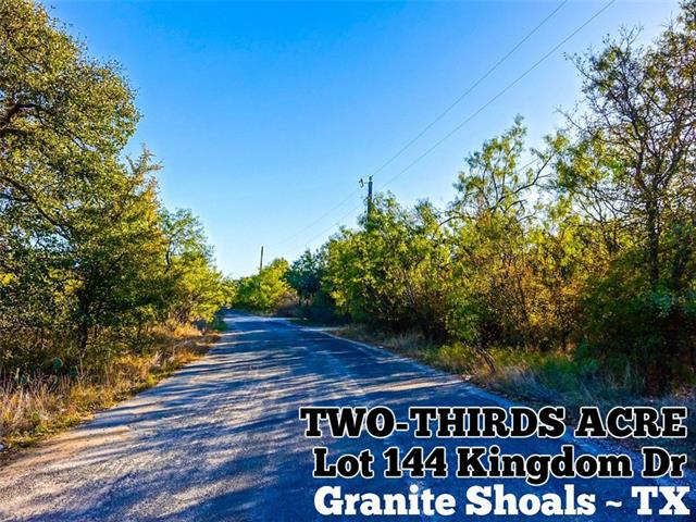 Lot 1144 Kingdom DR, Granite Shoals TX 78654 Property Photo - Granite Shoals, TX real estate listing