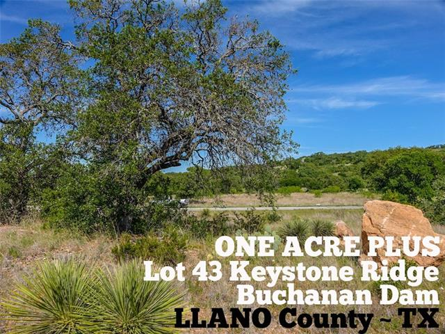 Lot 43 Keystone RDG, Buchanan Dam TX 78609 Property Photo - Buchanan Dam, TX real estate listing