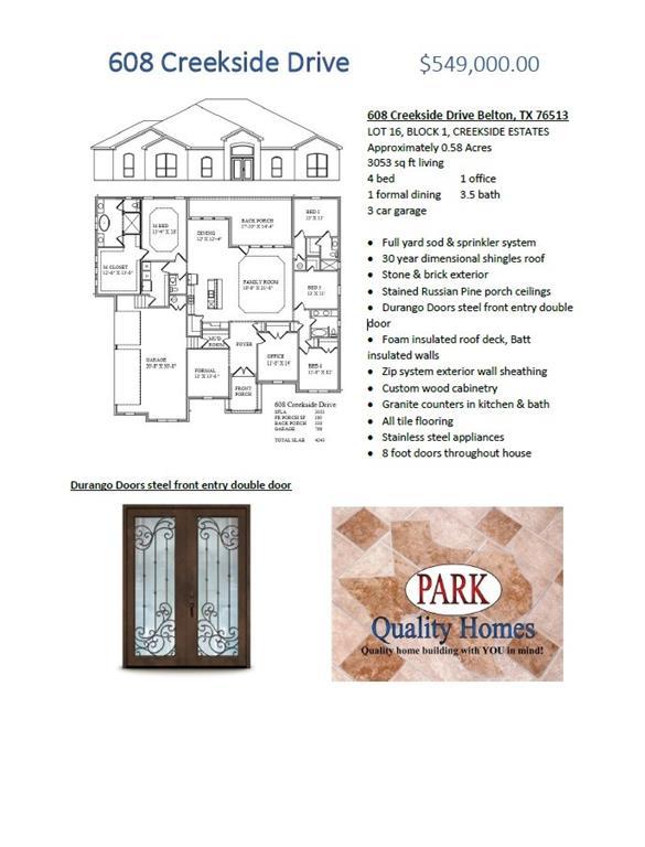 608 Creekside DR, Belton TX 76513, Belton, TX 76513 - Belton, TX real estate listing