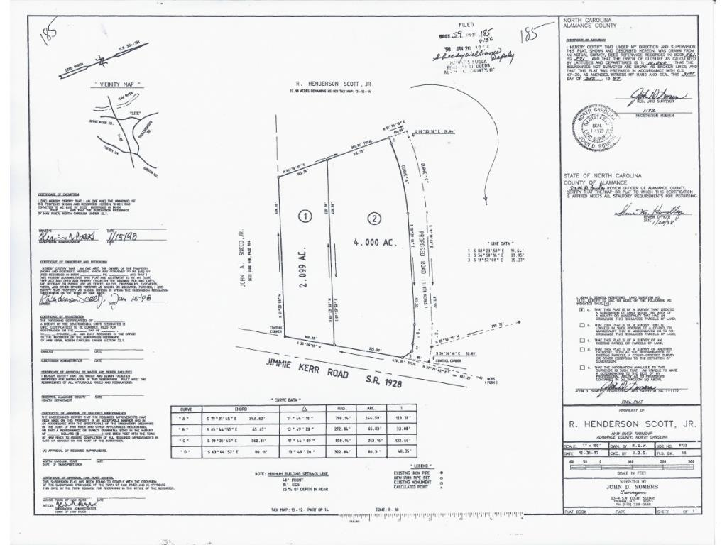 0 Jimmie Kerr Rd, Lot 2 Property Photo - Haw River, NC real estate listing