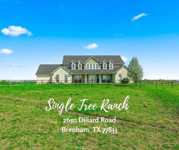 2650 Dillard Road Property Photo - Brenham, TX real estate listing