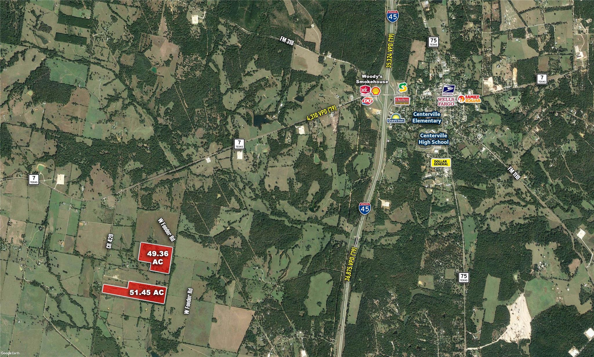 0 CR-420 Property Photo - Centerville, TX real estate listing