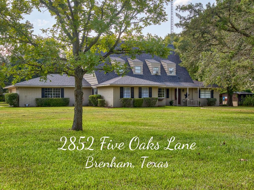 2852 Five Oaks Lane, Brenham, TX 77833 - Brenham, TX real estate listing