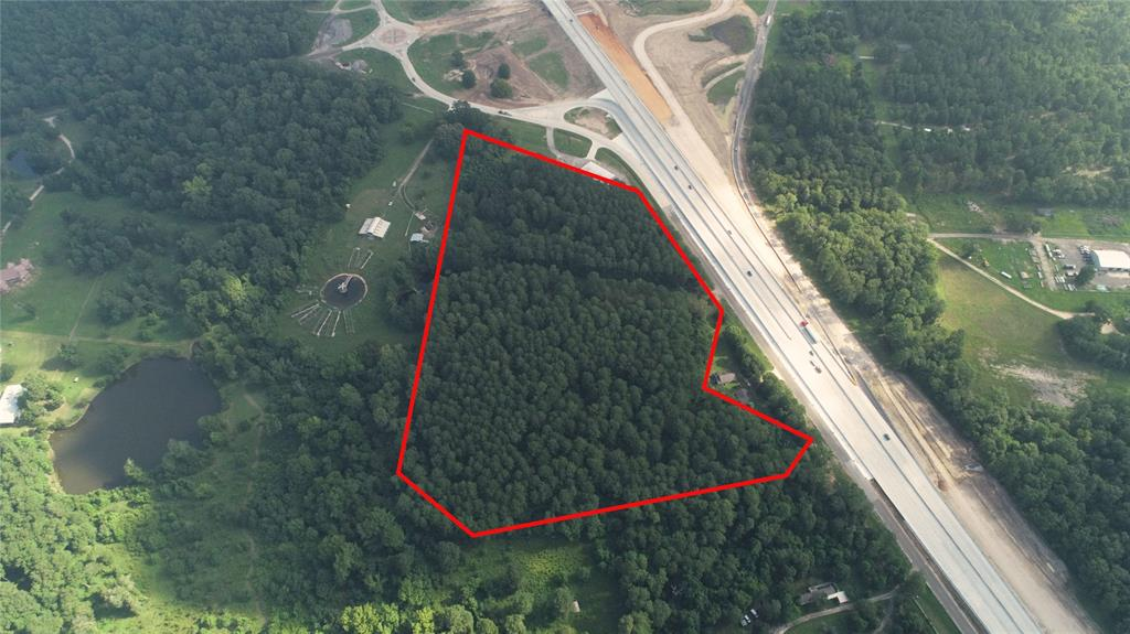 16.6 Ac I-45 Service Road Property Photo - New Waverly, TX real estate listing