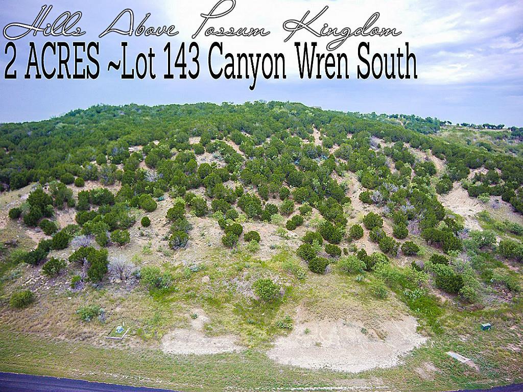 Lot 143 Canyon Wren S Property Photo - Graford, TX real estate listing