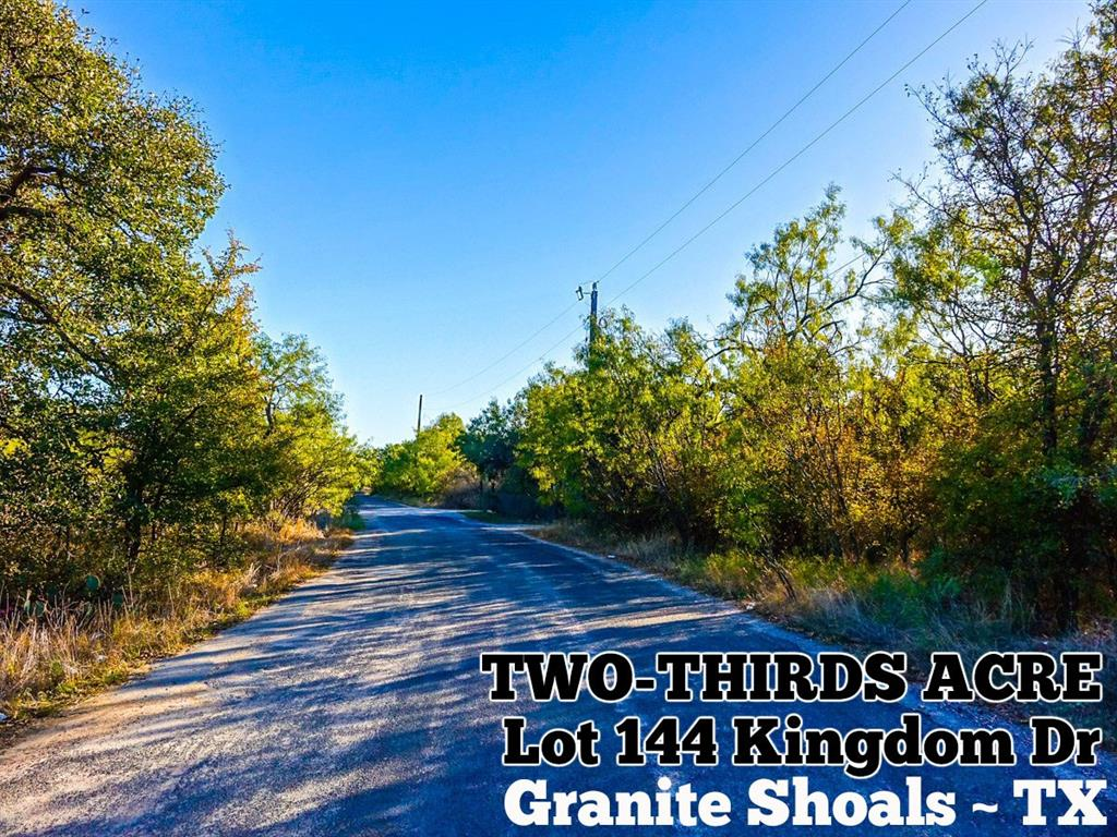 Lot 1144 Kingdom Drive, Granite Shoals, TX 78654 - Granite Shoals, TX real estate listing