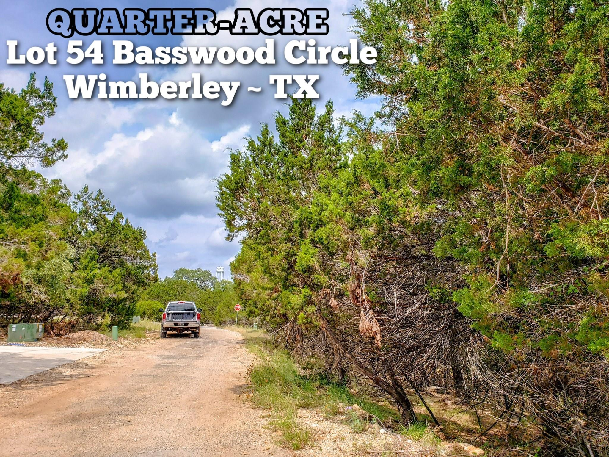 Lot 54 Basswood Circle Property Photo - Wimberley, TX real estate listing