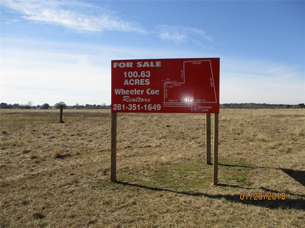 TBD Decker Prairie Road, Magnolia, TX 77355 - Magnolia, TX real estate listing