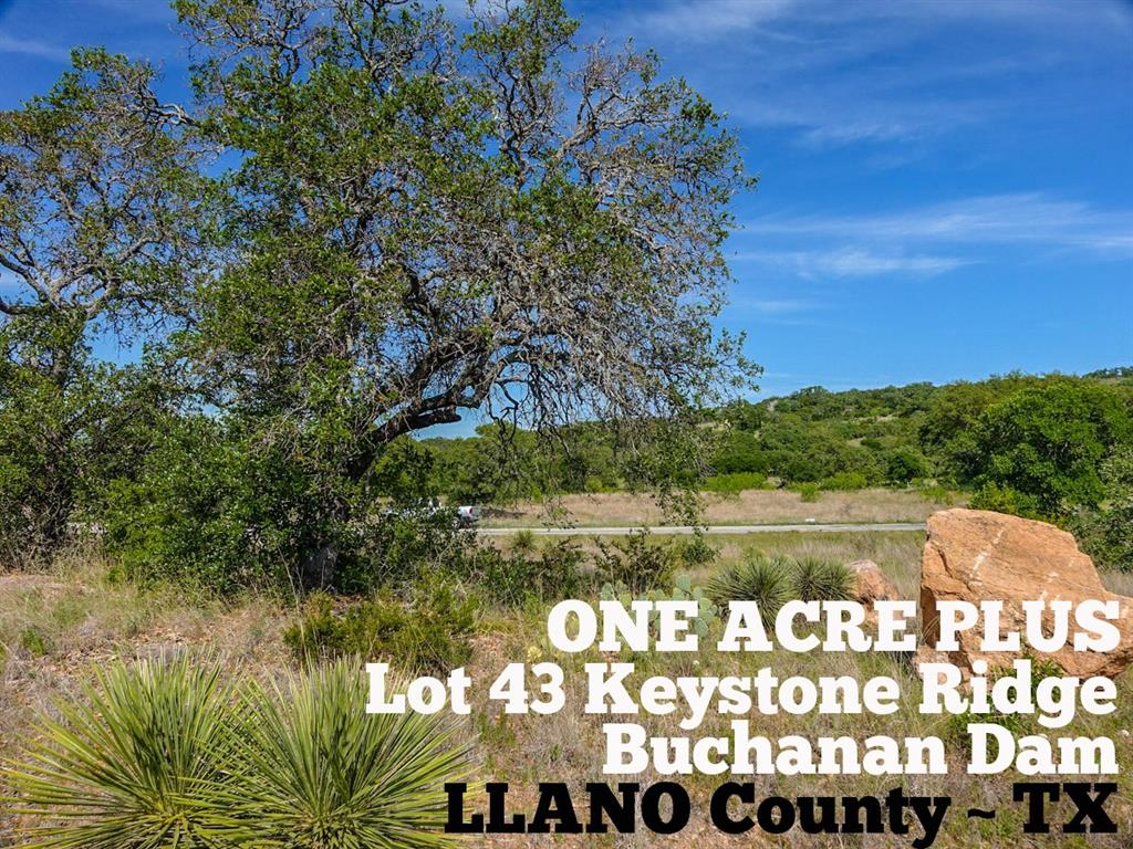 Lot 43 Keystone Ridge Property Photo - Buchanan Dam, TX real estate listing