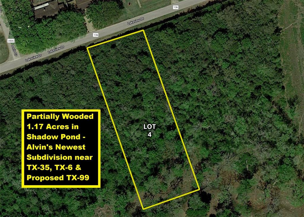 Lot 4 County Road 136 Property Photo - Alvin, TX real estate listing