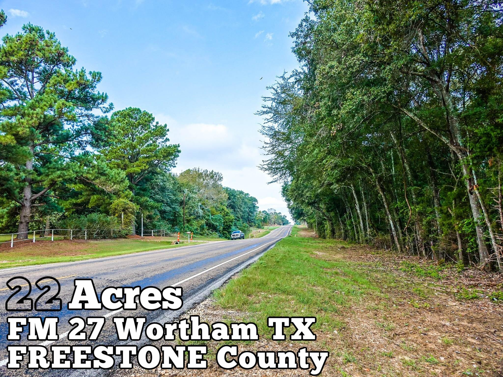 22-ac FM 27 Property Photo - Wortham, TX real estate listing