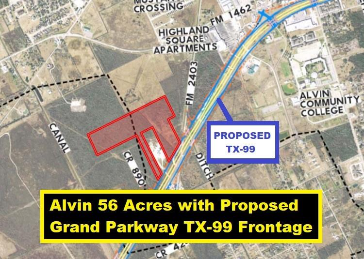 0 Highway 35 and Johnson Street S Property Photo - Alvin, TX real estate listing