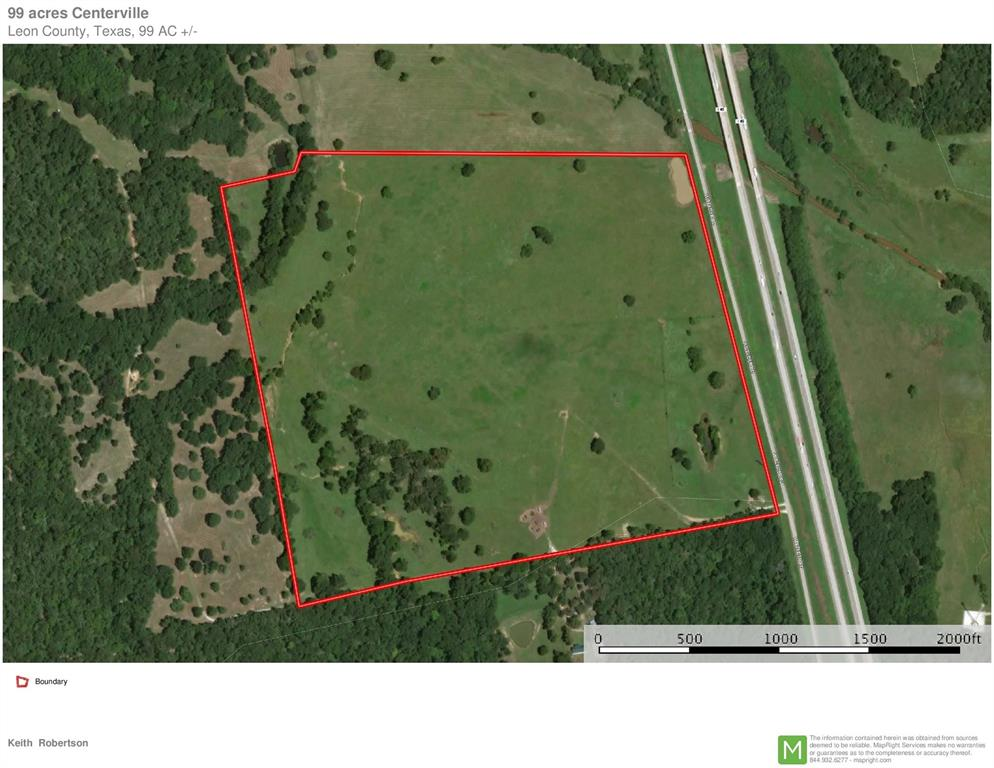 98 .88 Acres I-45 South, Centerville, TX 75833 - Centerville, TX real estate listing
