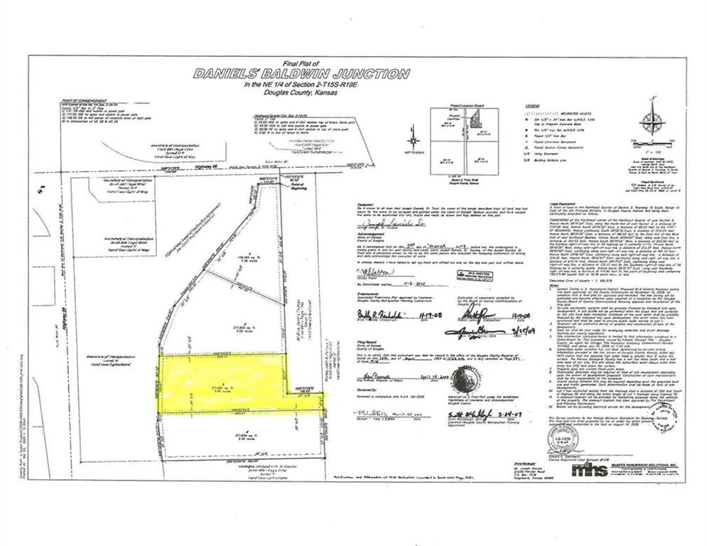 Lot 3 Highway 56 N/A Property Photo - Baldwin City, KS real estate listing