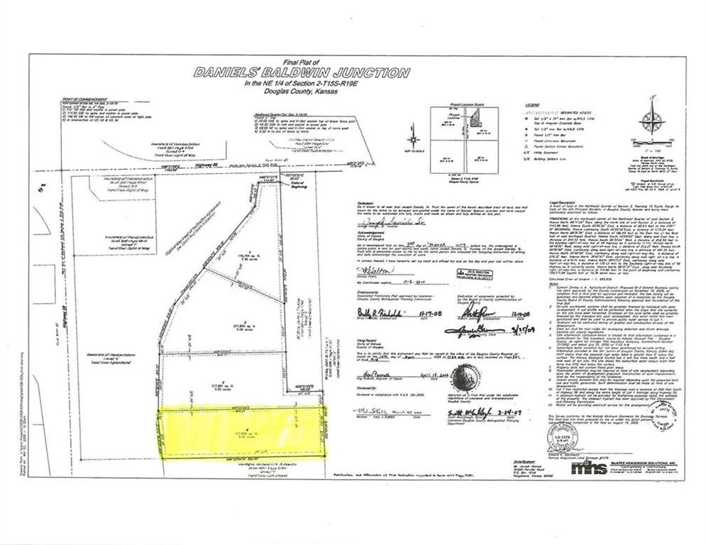 Lot 4 Highway 56 N/A Property Photo - Baldwin City, KS real estate listing