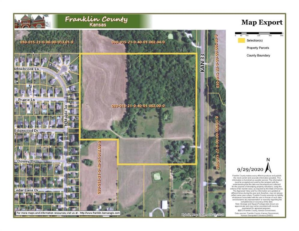 4734 K-33 Highway Property Photo - Wellsville, KS real estate listing