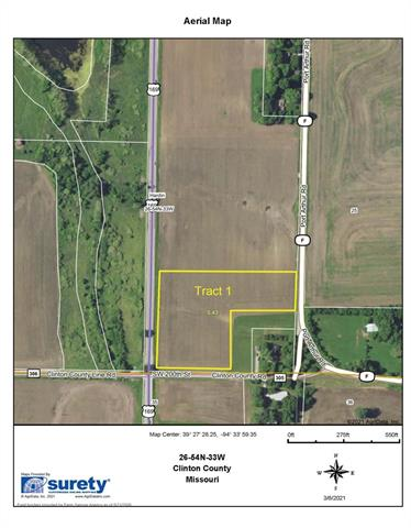 SW F - Tract 1 Highway Property Photo - Trimble, MO real estate listing