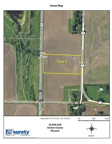 SW F - Tract 2 Highway Property Photo - Trimble, MO real estate listing