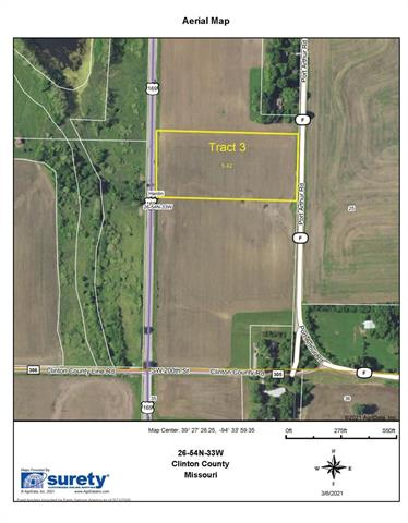 SW F - Tract 3 Highway Property Photo - Trimble, MO real estate listing