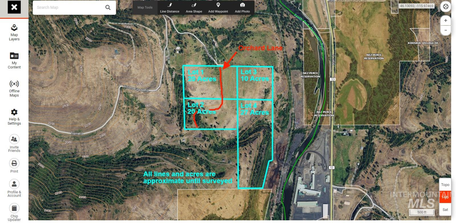 TBD Orchard Lane Parcel 1 & 2 Property Photo - Kooskia, ID real estate listing