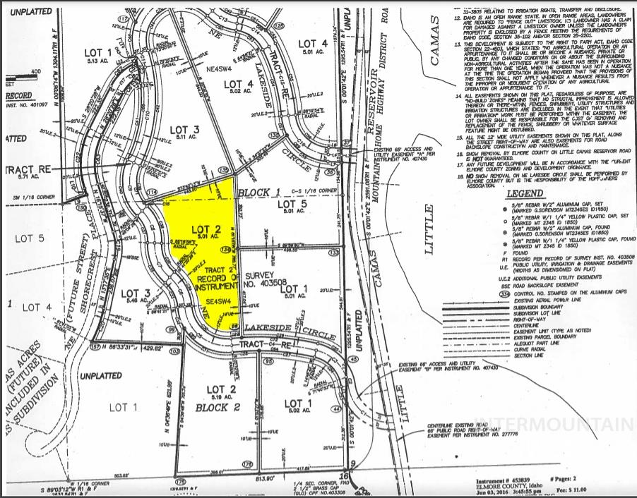 TBD Lakeside Circle Lot 2 Blk 1 Property Photo - Mountain Home, ID real estate listing