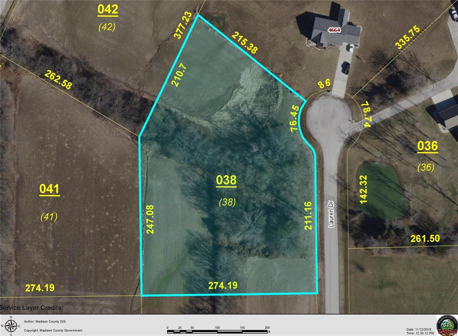 4649 LAUREN LOT 38 Drive Property Photo - Pocahontas, IL real estate listing