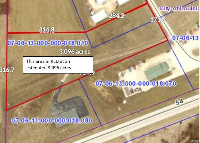 0 3+/- acres Brown Lane Property Photo - Louisiana, MO real estate listing