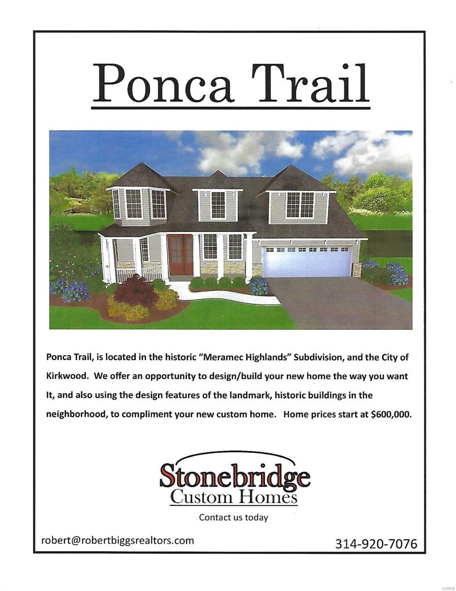0 TBB Ponca Trail Property Photo - Kirkwood, MO real estate listing