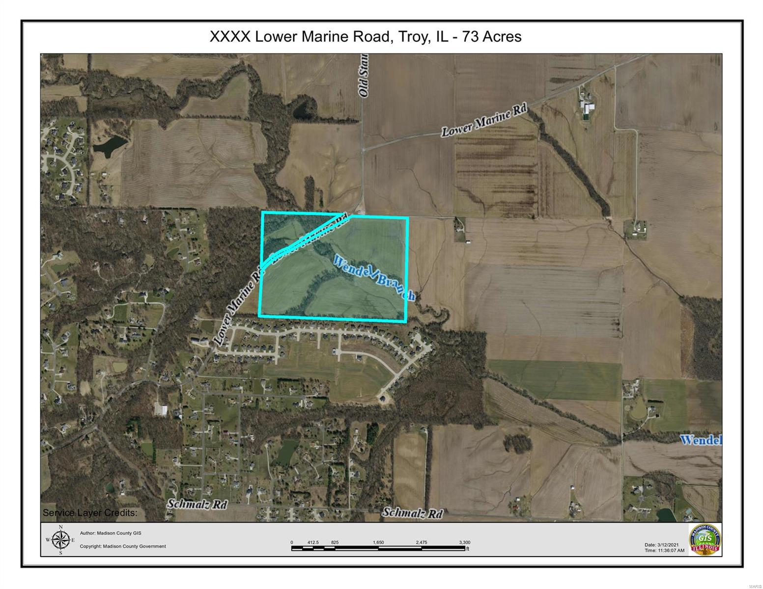 0 Lower Marine Road Property Photo - Troy, IL real estate listing