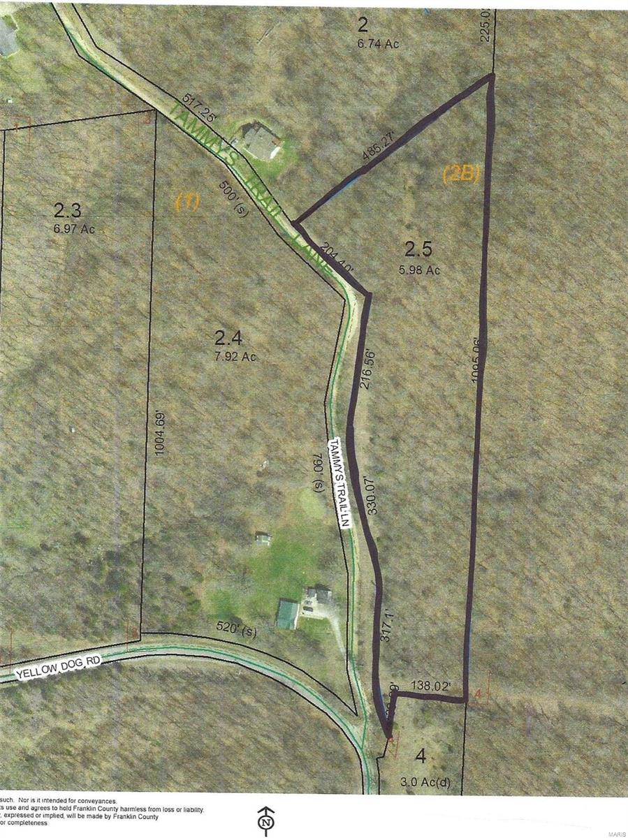 5 .98 Acres Tammys Trail Property Photo - Lonedell, MO real estate listing
