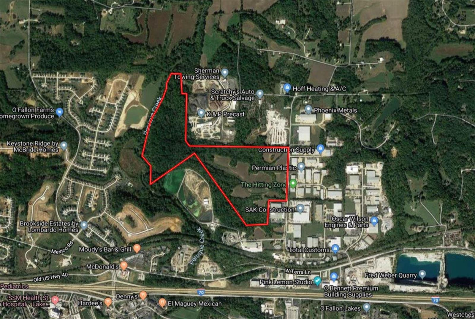 122 +/- Acres. Hoff Road Property Photo