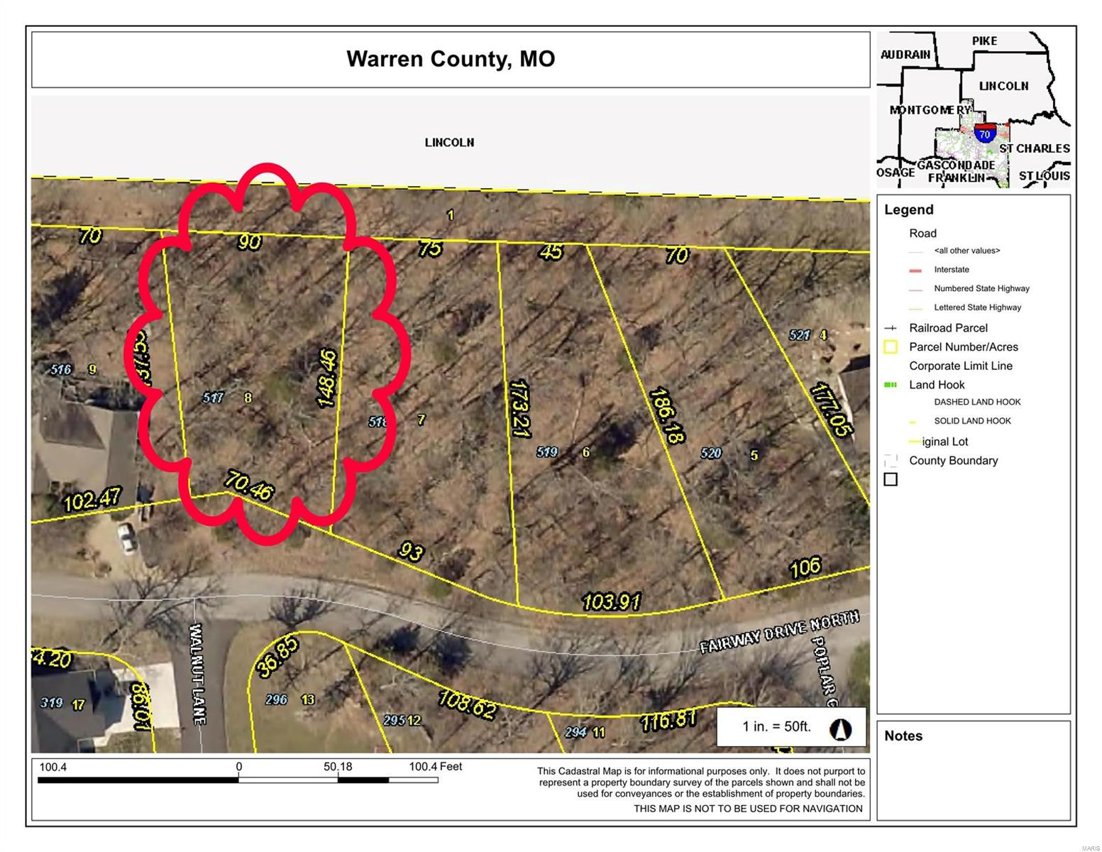 0 N Lot 517 Fairway Dr Drive N Property Photo - Foristell, MO real estate listing