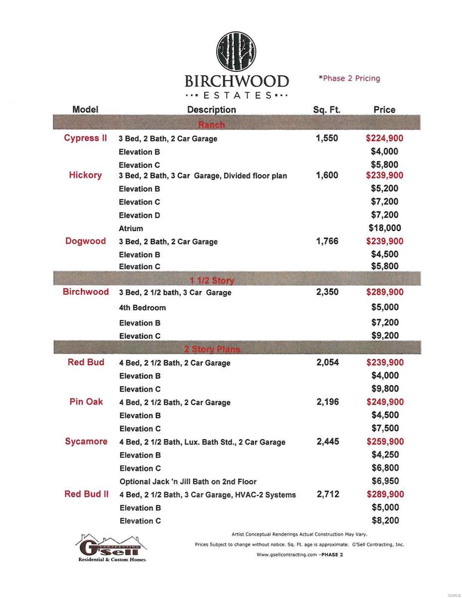 0 Birchwood Estates-HICKORY Property Photo - Festus, MO real estate listing