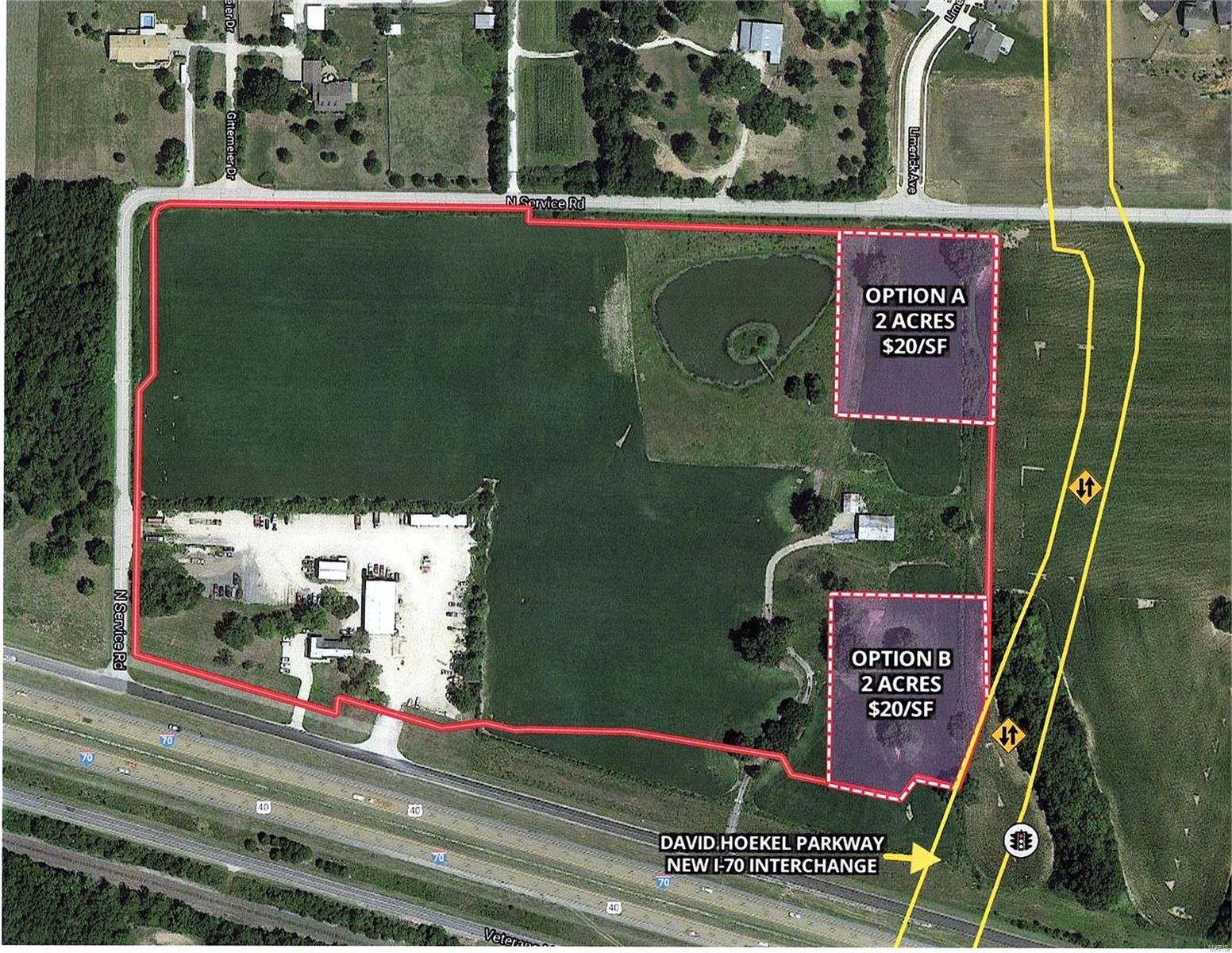2 Acres North Service Road Property Photo - Wentzville, MO real estate listing