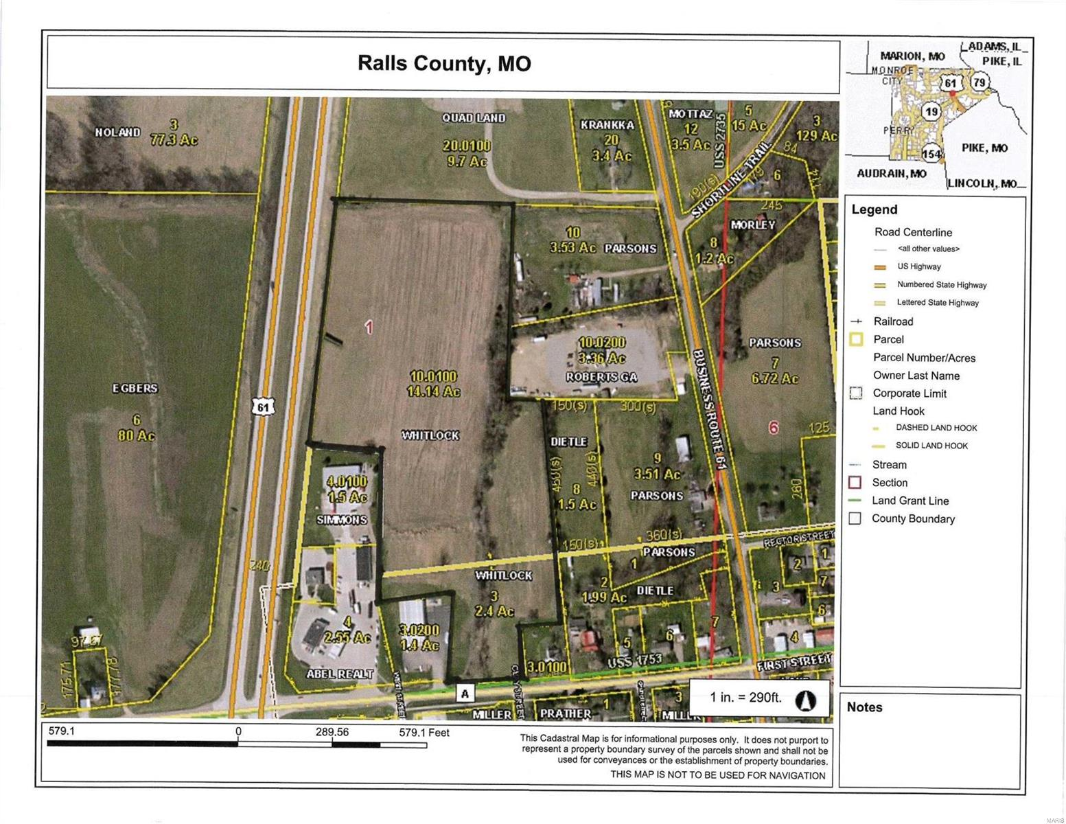 0 Highway 61 and A Property Photo - New London, MO real estate listing