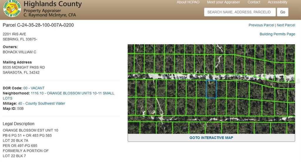 2201 IRIS AVE Property Photo - SEBRING, FL real estate listing