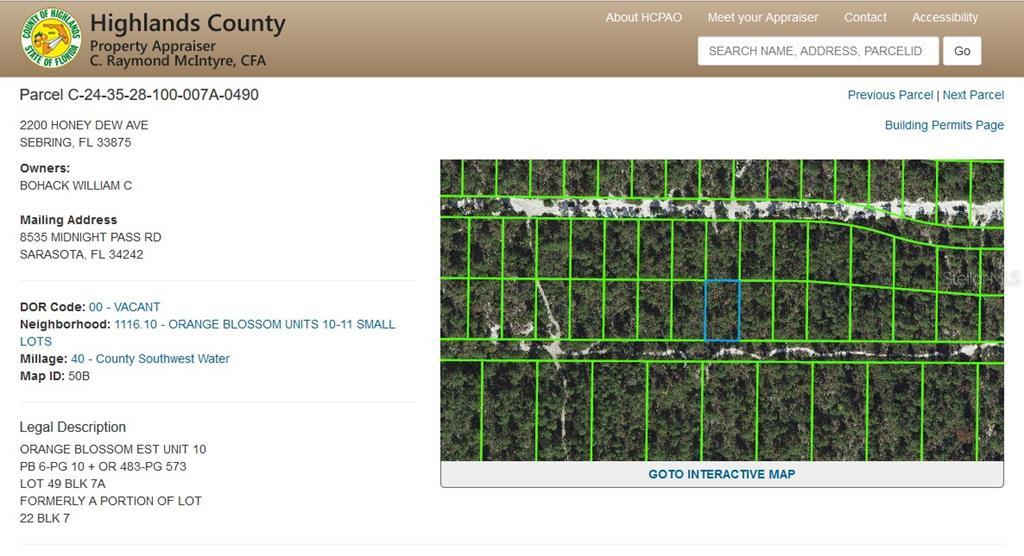 2200 HONEY DEW AVE Property Photo - SEBRING, FL real estate listing