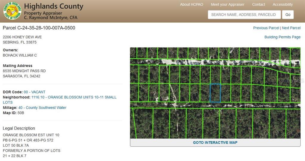 2206 HONEY DEW AVE Property Photo - SEBRING, FL real estate listing