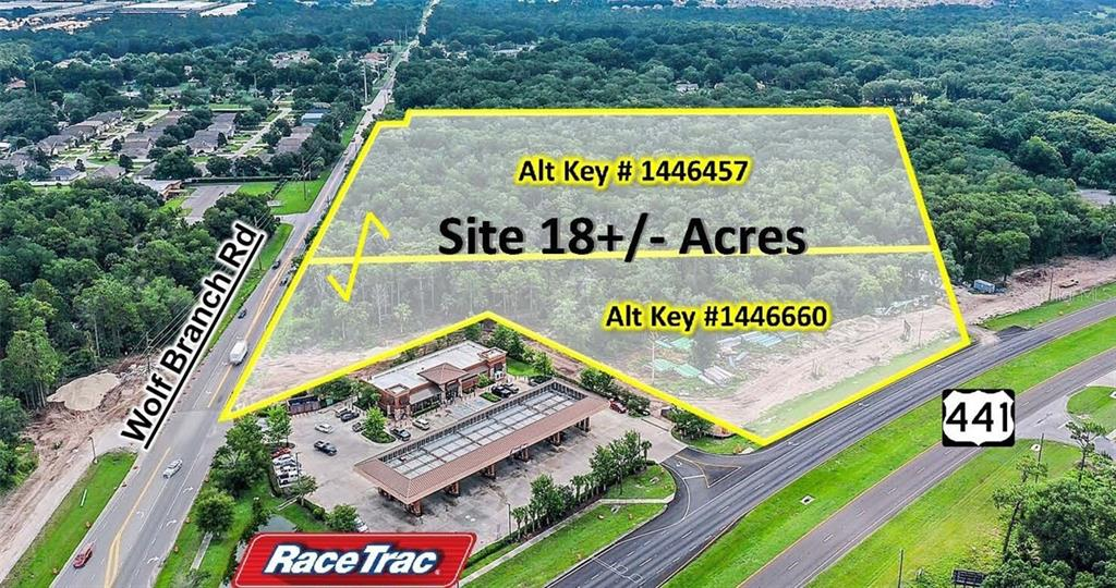 US HWY 441 & WOLF BRANCH RD Property Photo - MOUNT DORA, FL real estate listing