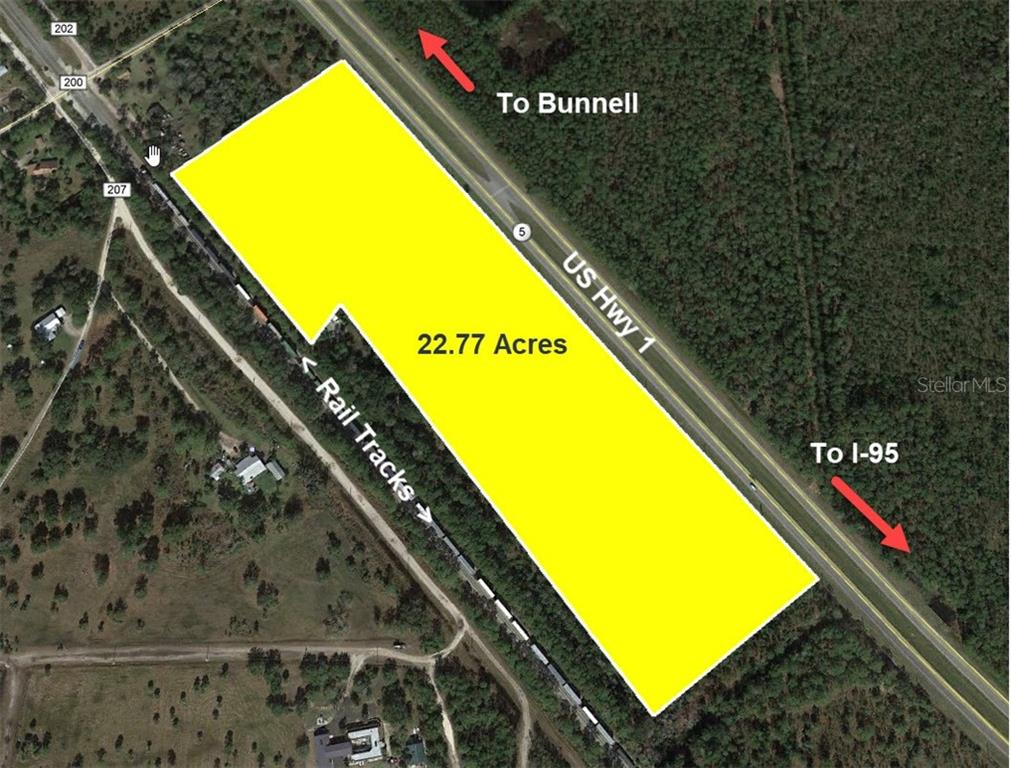 US 1 HWY #(22.77 AC) Property Photo - BUNNELL, FL real estate listing