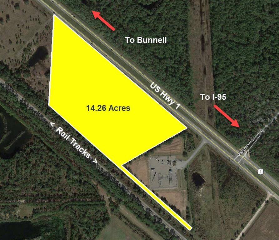 US 1 HIGHWAY #(14.26 AC) Property Photo - BUNNELL, FL real estate listing