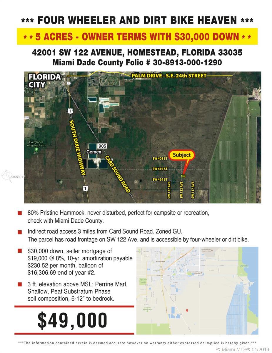 42001 SW 122 Avenue, Homestead, FL 33035 - Homestead, FL real estate listing