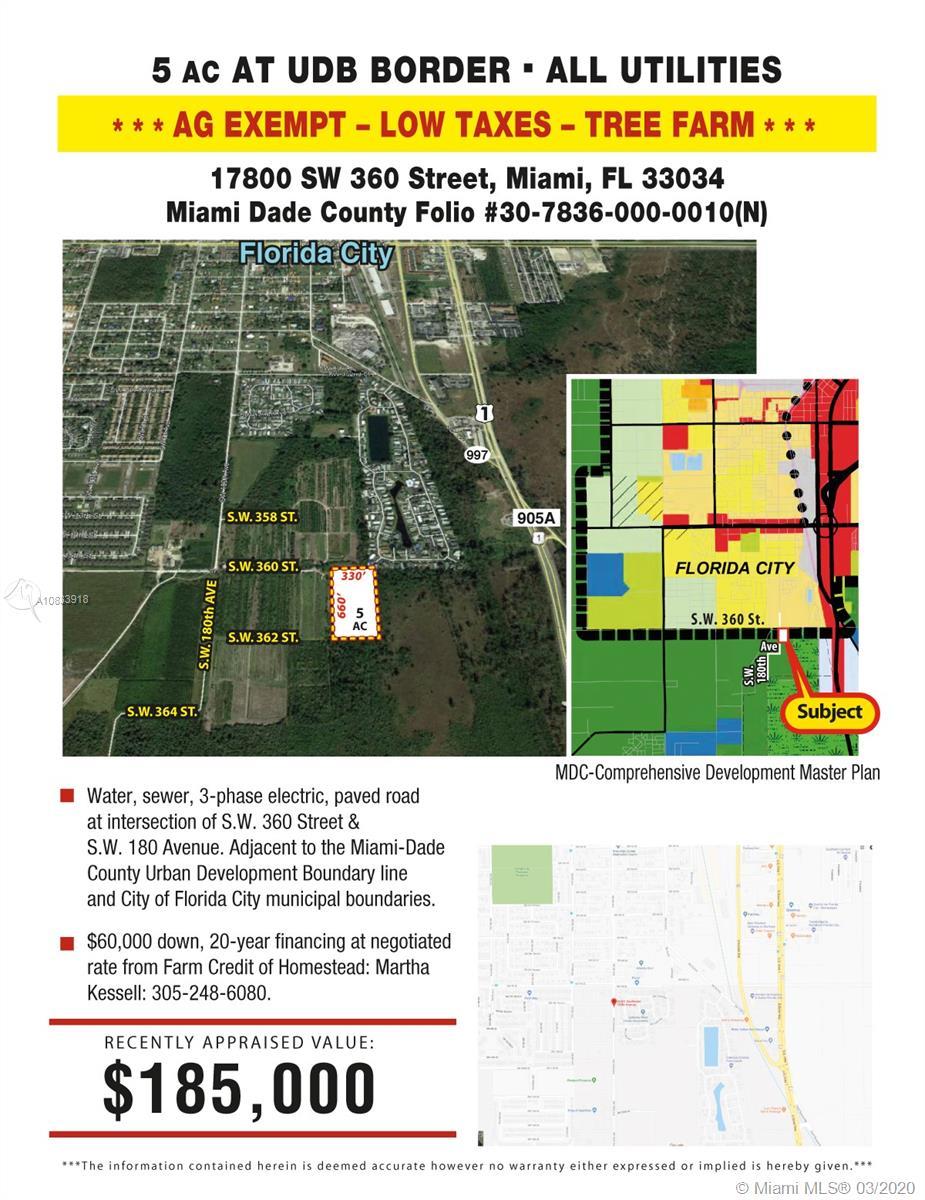 17800 SW 360 STREET, Florida City, FL 33034 - Florida City, FL real estate listing