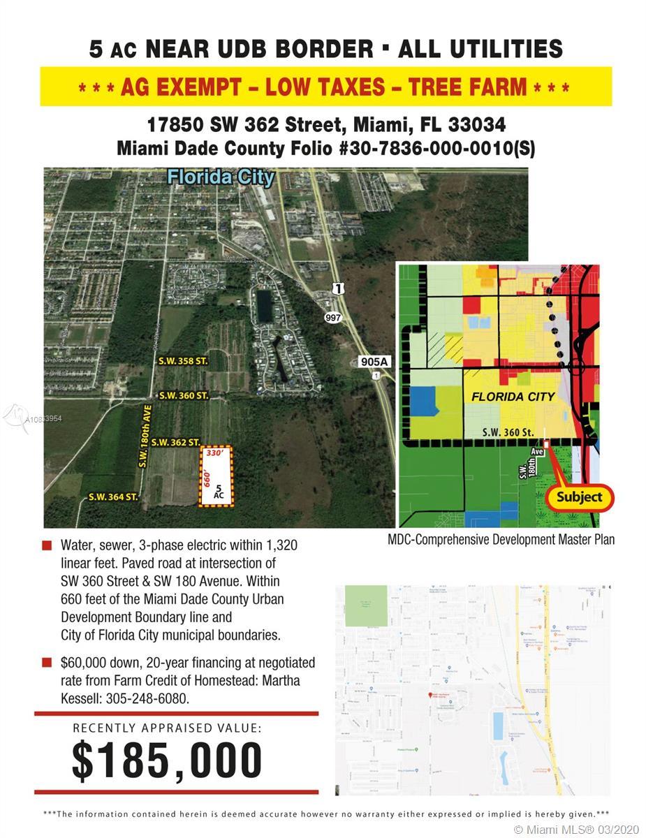 17850 SW 362 STREET, Florida City, FL 33034 - Florida City, FL real estate listing