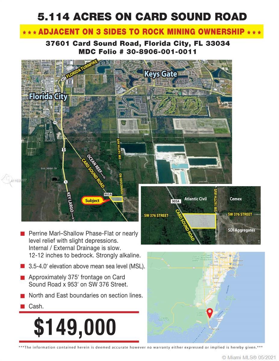 37601 Card Sound Road Property Photo - Florida City, FL real estate listing