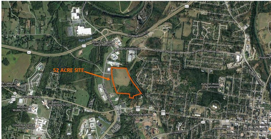 0 N James M Campbell Blvd Property Photo - Columbia, TN real estate listing