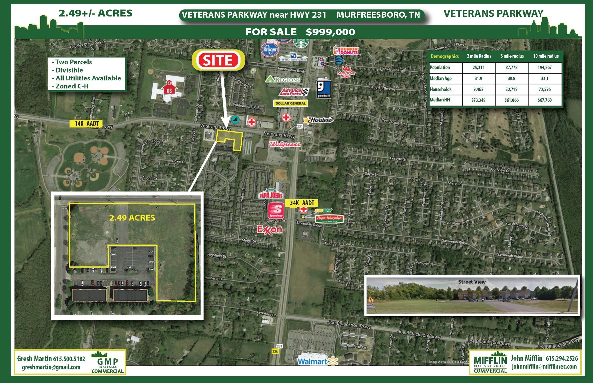 0 Veterans Pkwy Property Photo - Murfreesboro, TN real estate listing