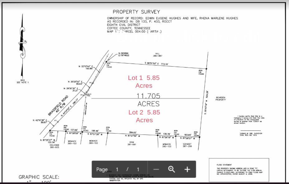 0 Lot 1 Brassfield Road, Hillsboro, TN 37342 - Hillsboro, TN real estate listing