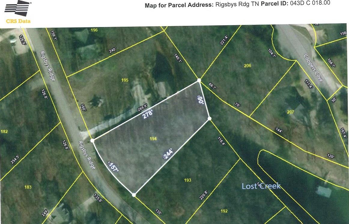 0 Rigsbys Rdg Lot 194, Lynchburg, TN 37352 - Lynchburg, TN real estate listing