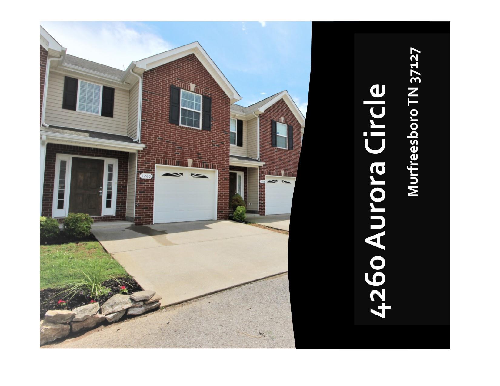 4260 Aurora Cir, Murfreesboro, TN 37127 - Murfreesboro, TN real estate listing
